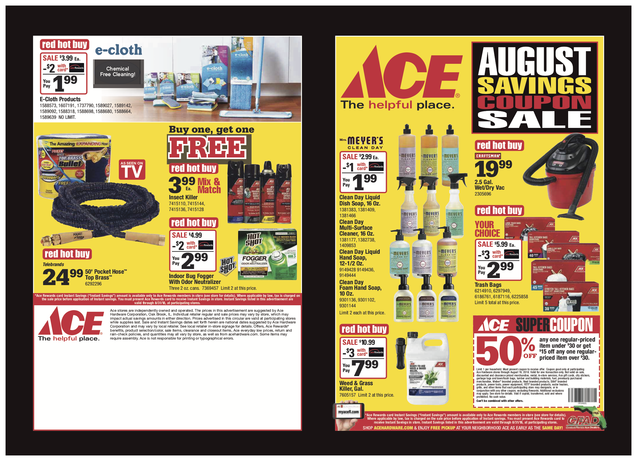 August Savings Coupon Sale